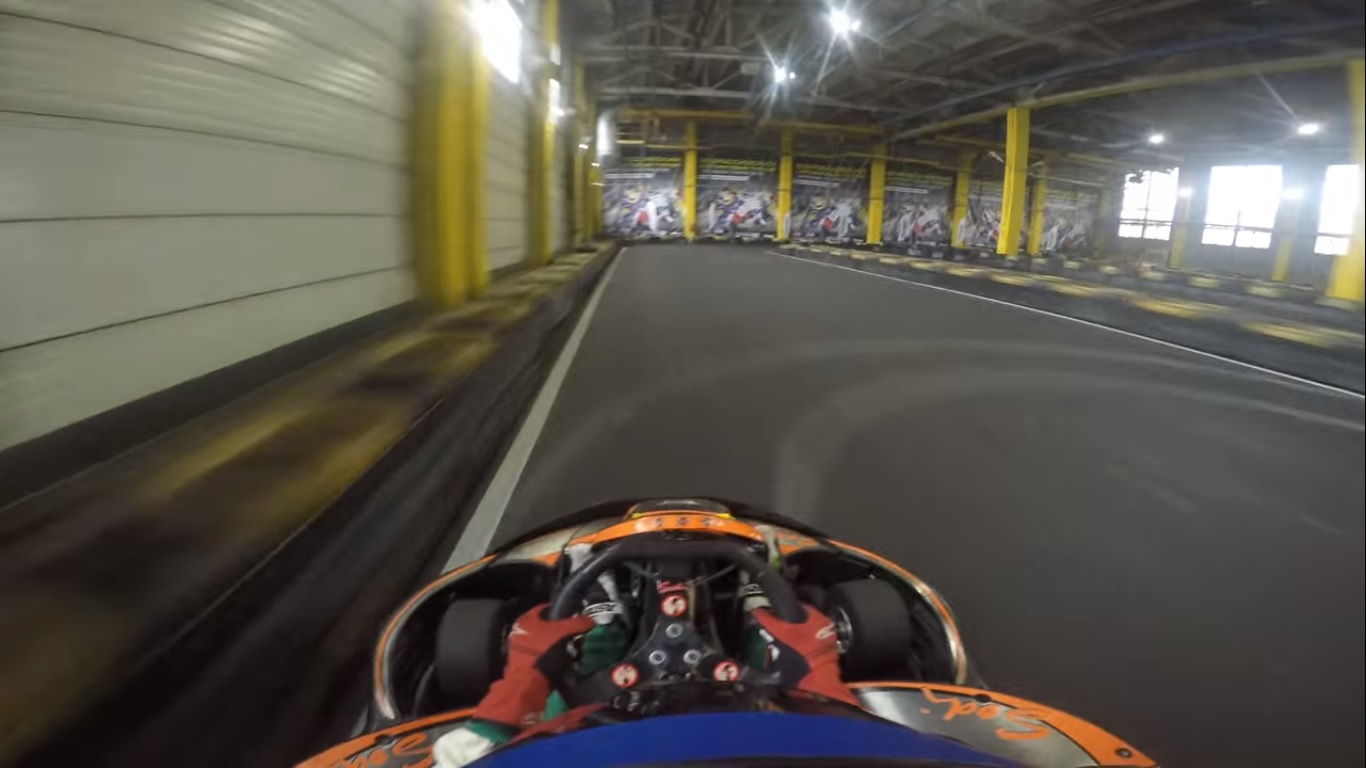 Правильная траектория на трассе Primo karting